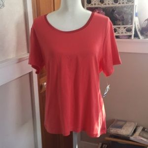 Shirt with Lycra fabric color coral Size pet XL👚